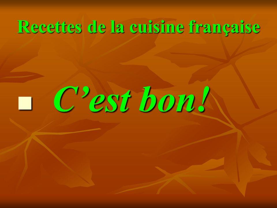 Recettes de la cuisine française