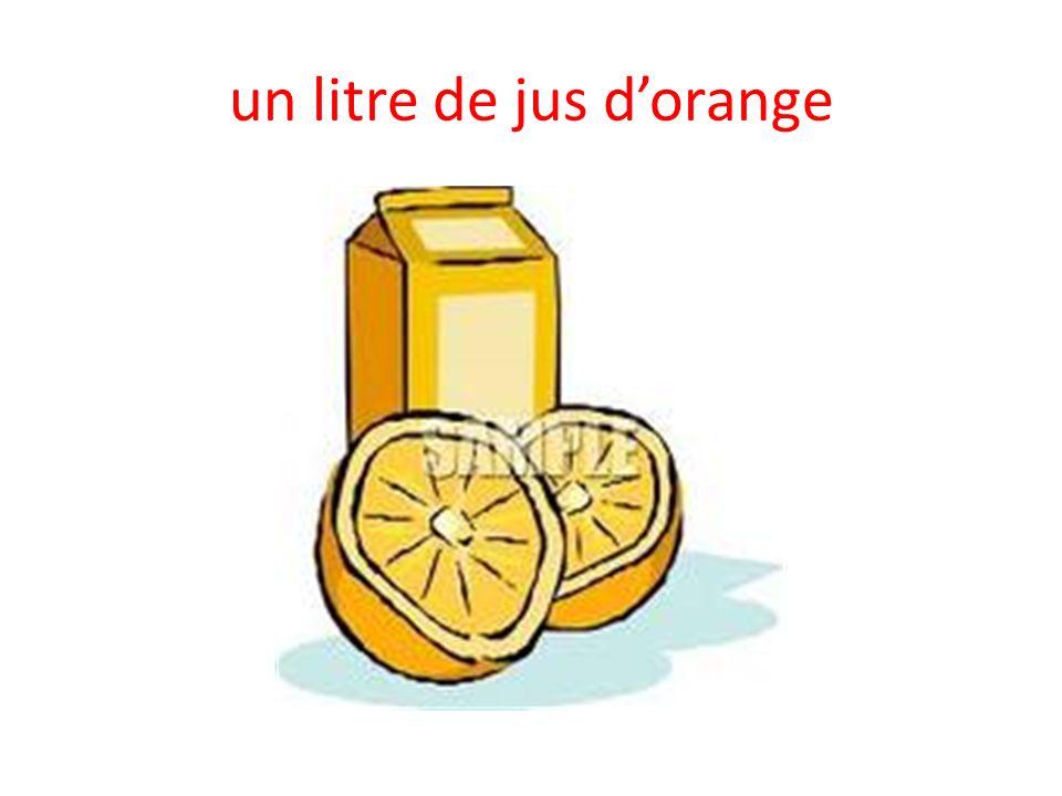 un litre de jus d'orange