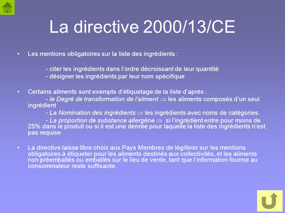etiquetage nutritionnel et allegations