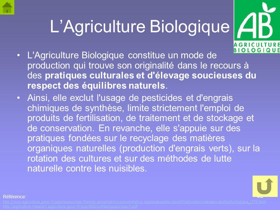L'Agriculture Biologique
