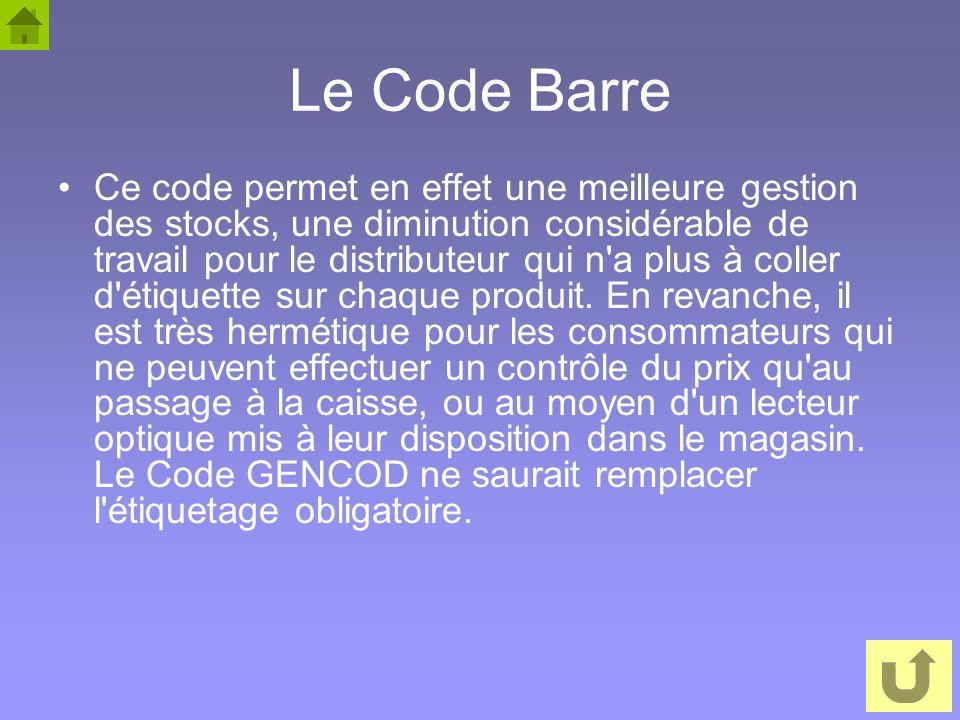 Le Code Barre