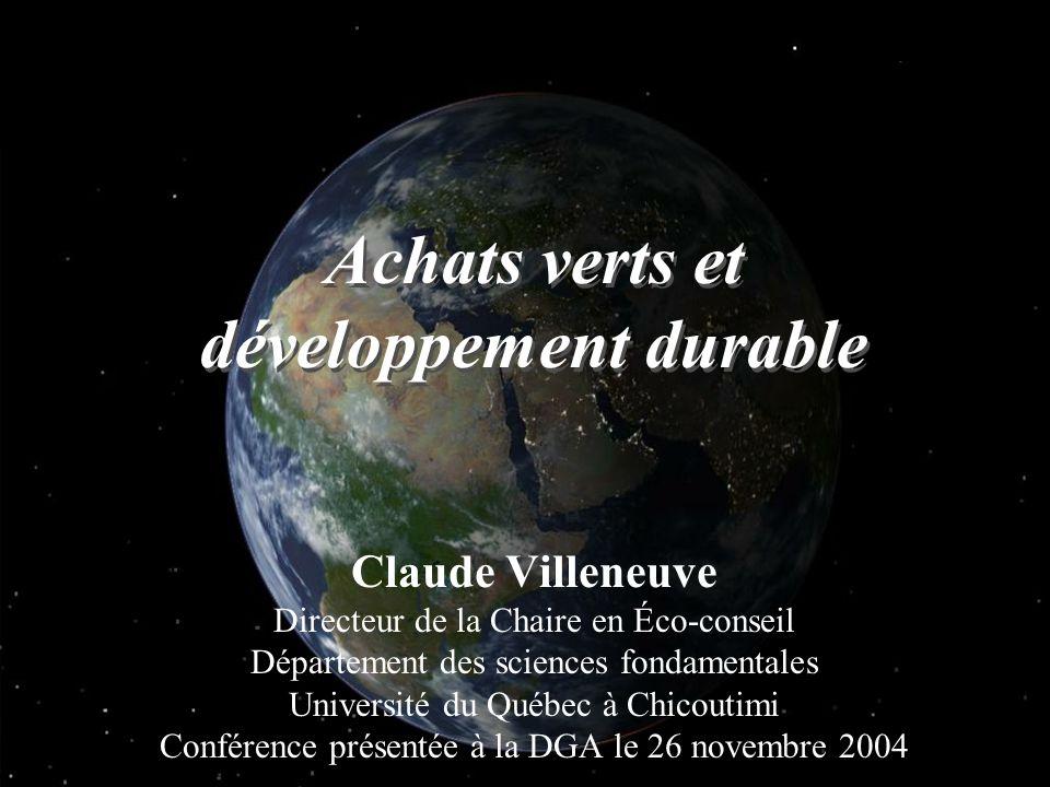 Achats verts et développement durable