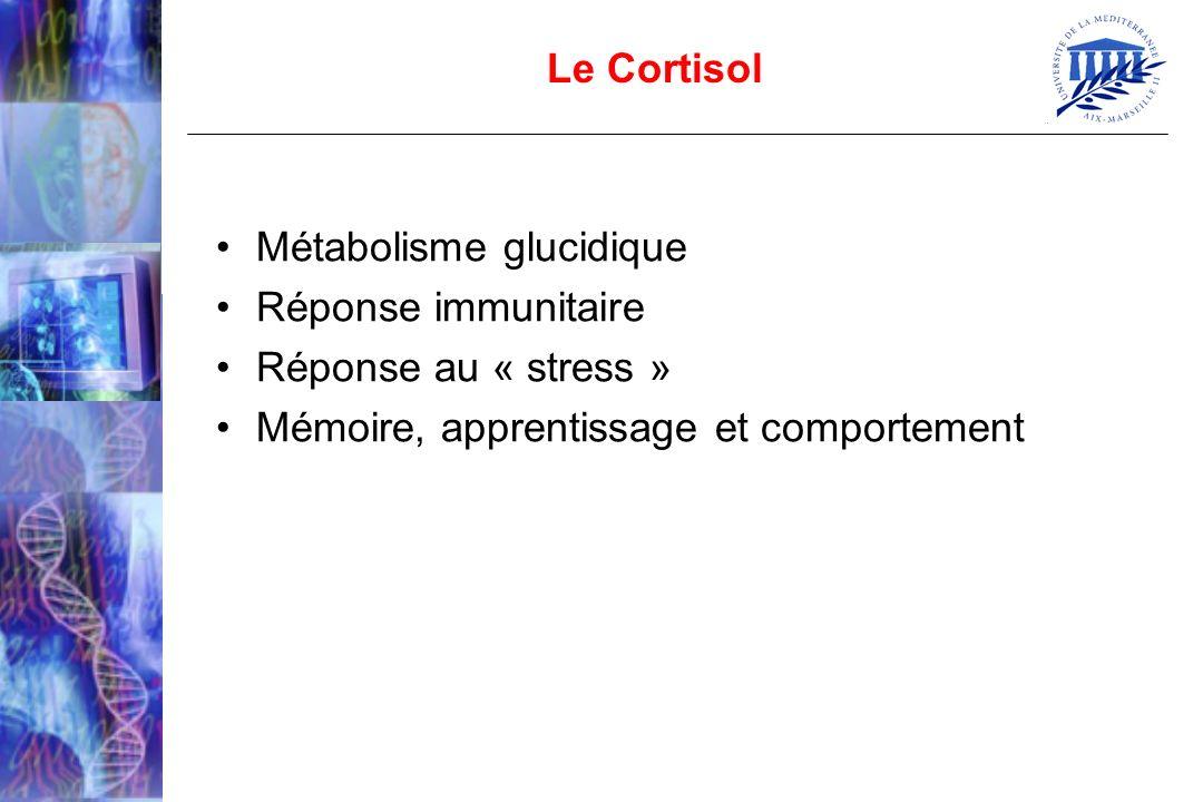 Le Cortisol Métabolisme glucidique. Réponse immunitaire.