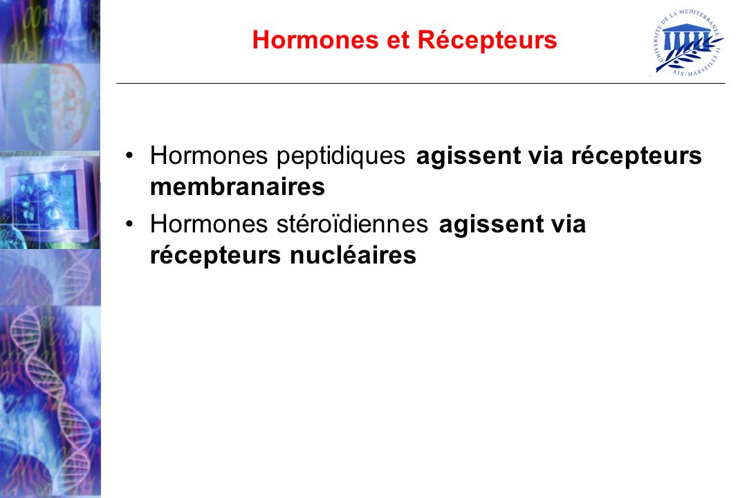Hormones et Récepteurs