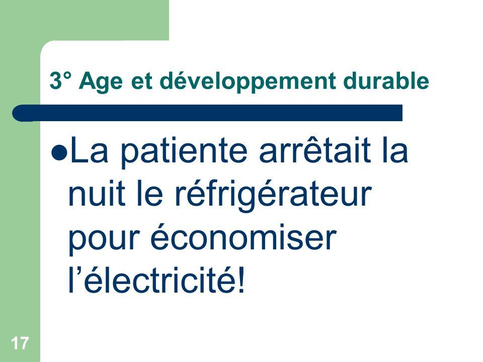 3° Age et développement durable