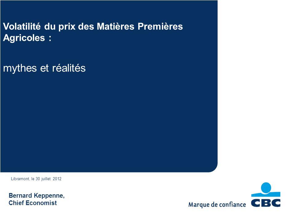 Volatilité du prix des Matières Premières Agricoles :