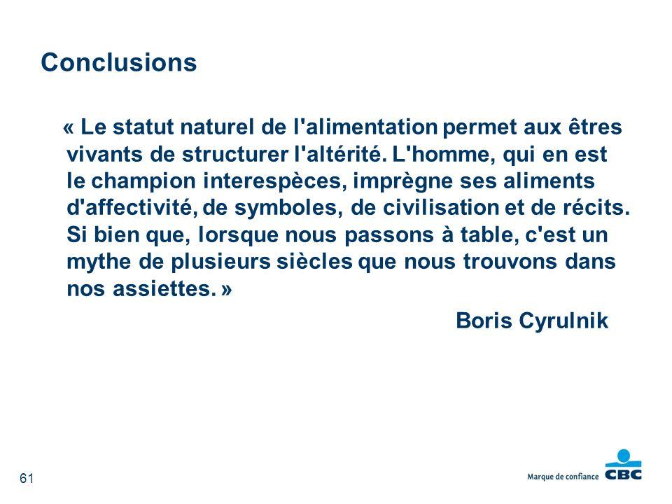 Conclusions Boris Cyrulnik