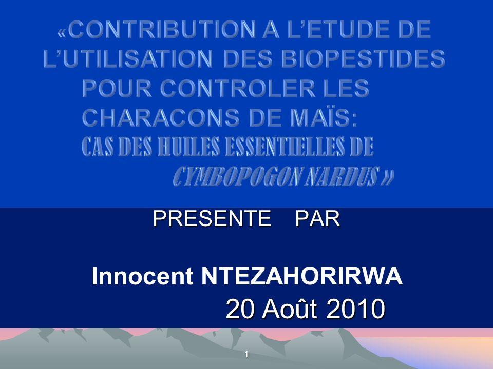 PRESENTE PAR Innocent NTEZAHORIRWA