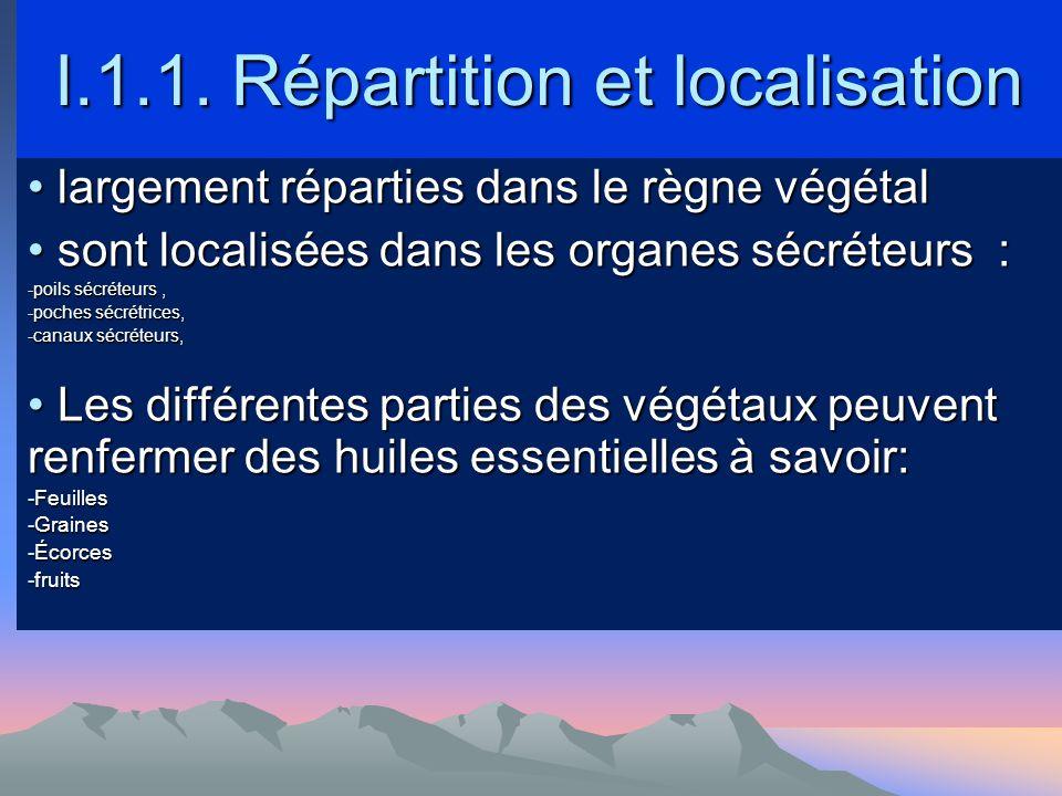 I.1.1. Répartition et localisation
