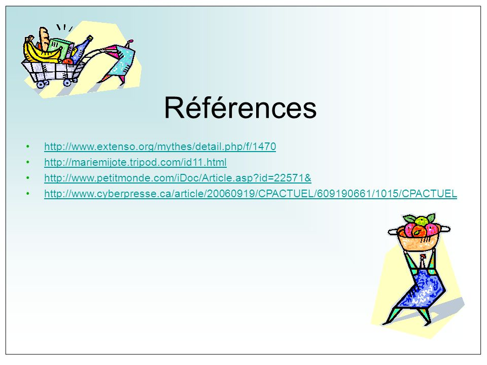 Références http://www.extenso.org/mythes/detail.php/f/1470