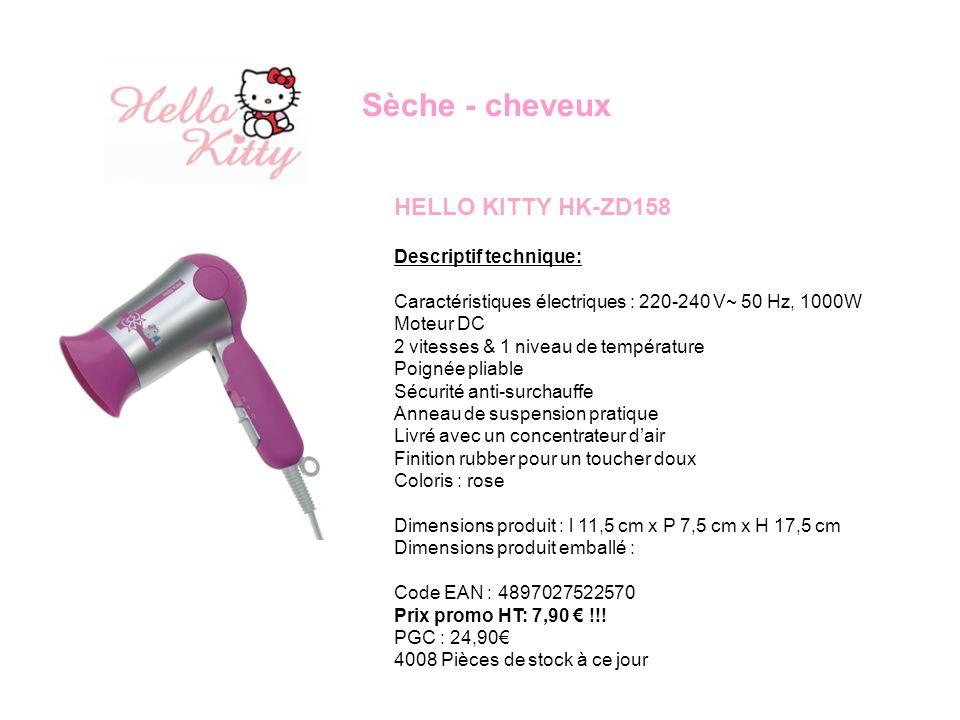 Sèche - cheveux HELLO KITTY HK-ZD158 Descriptif technique: