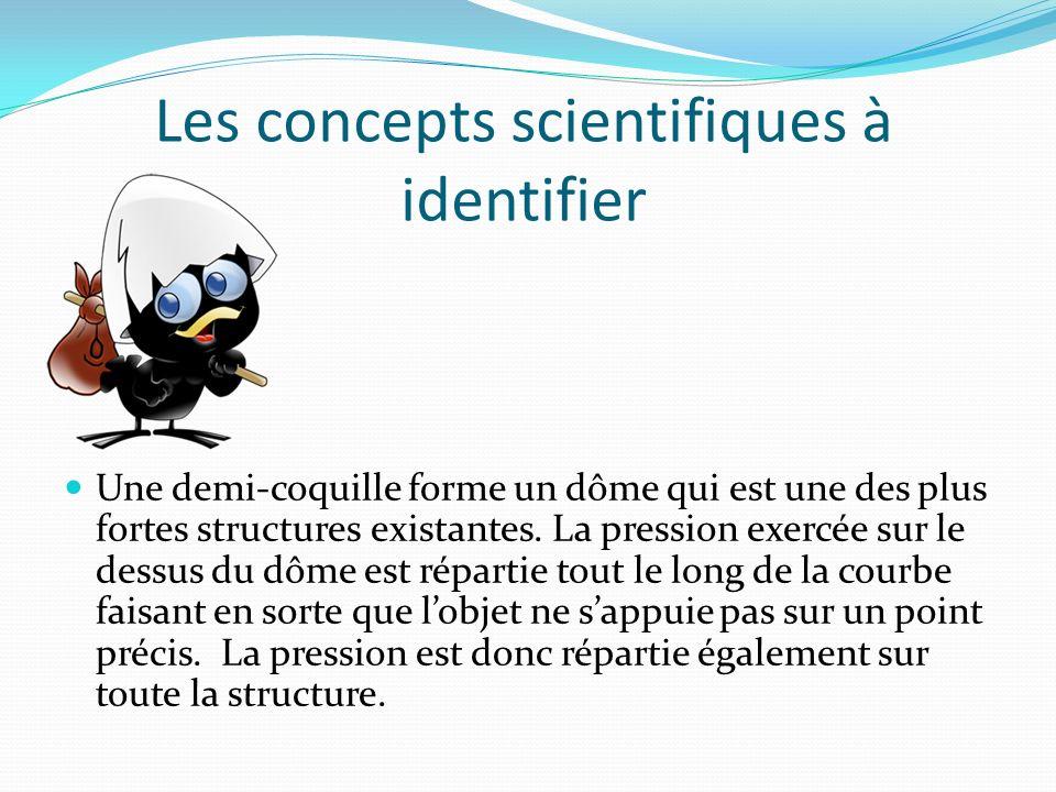Les concepts scientifiques à identifier
