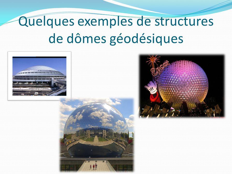 Quelques exemples de structures de dômes géodésiques