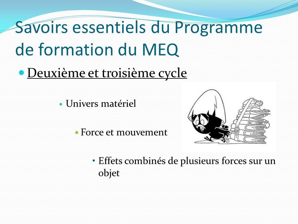 Savoirs essentiels du Programme de formation du MEQ