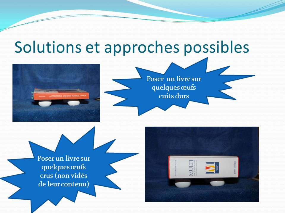 Solutions et approches possibles
