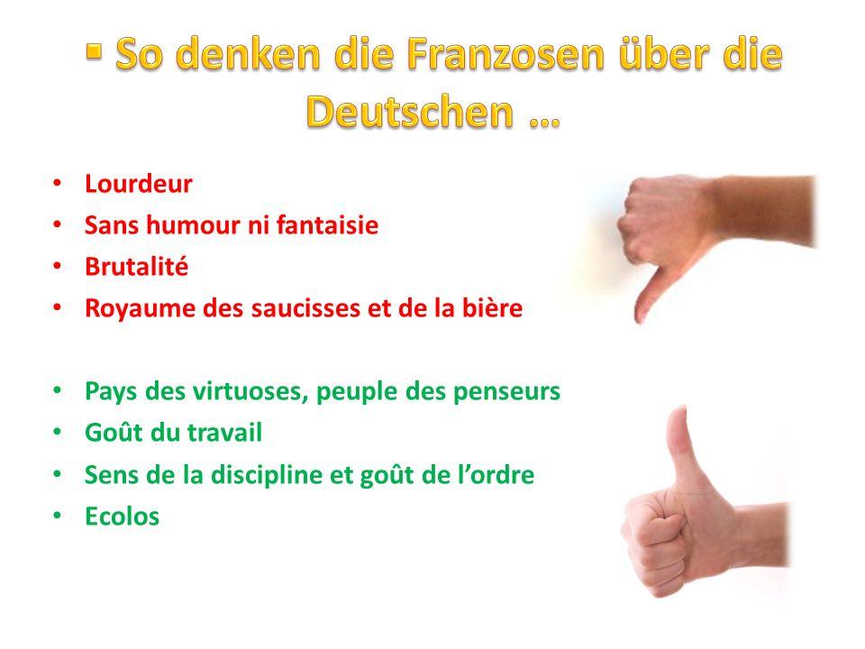 So denken die Franzosen über die Deutschen …