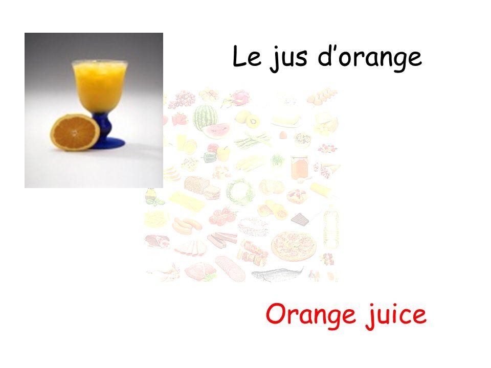 Le jus d'orange Orange juice