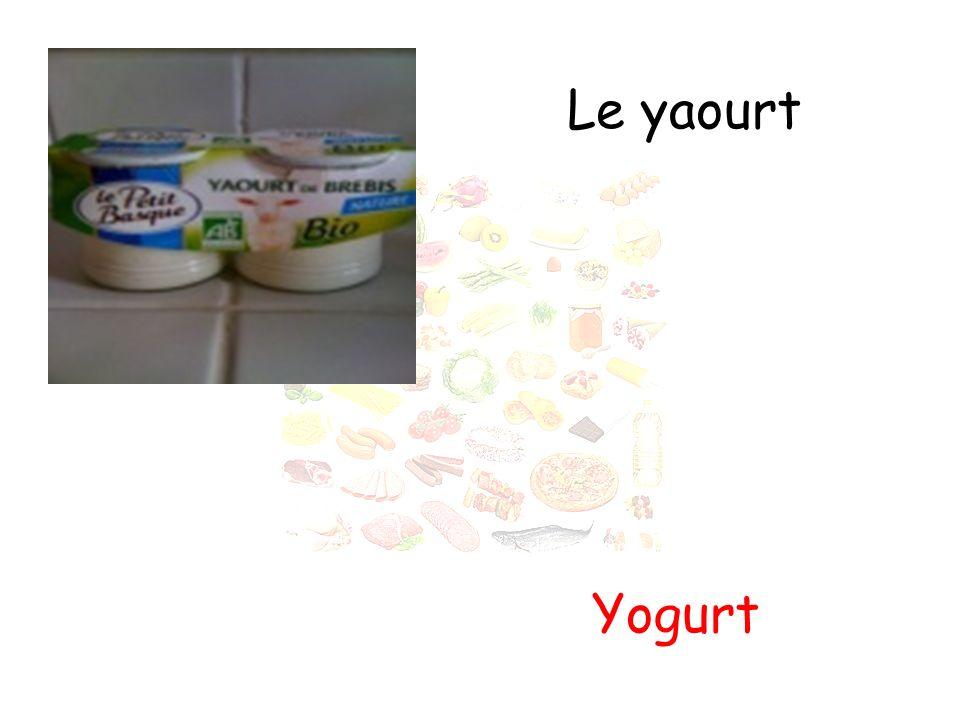 Le yaourt Yogurt