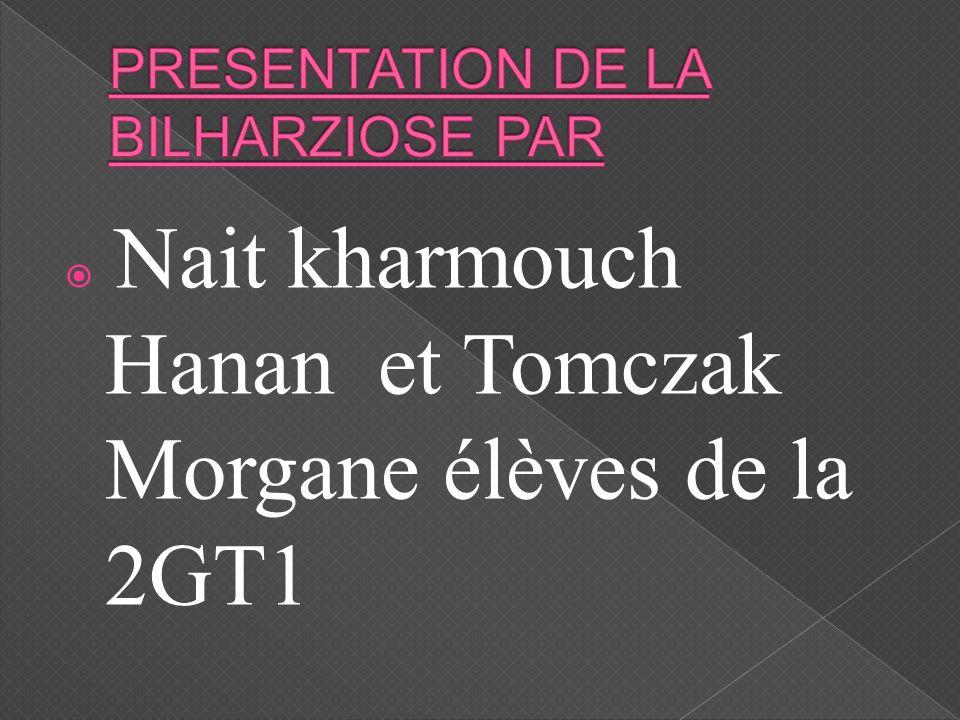 PRESENTATION DE LA BILHARZIOSE PAR