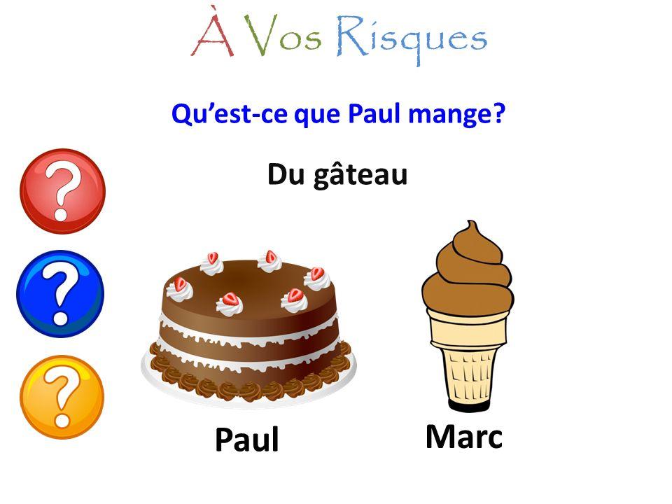 À Vos Risques Qu'est-ce que Paul mange Du gâteau Paul Marc