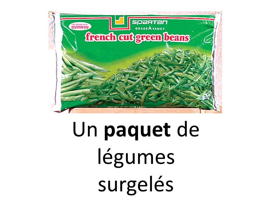 Un paquet de légumes surgelés