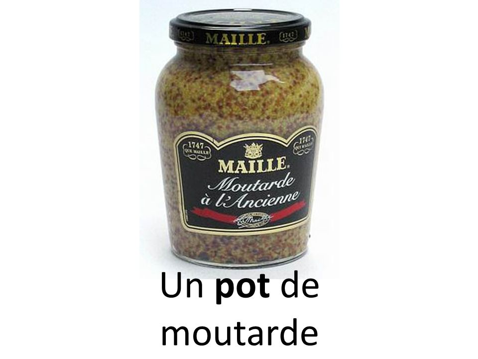 Un pot de moutarde