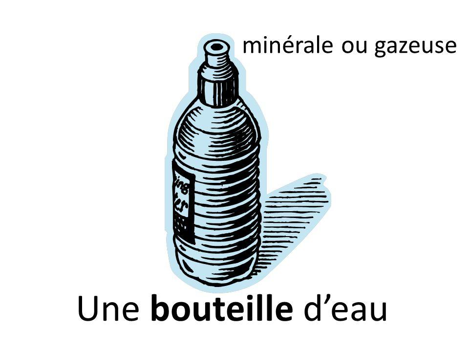minérale ou gazeuse Une bouteille d'eau
