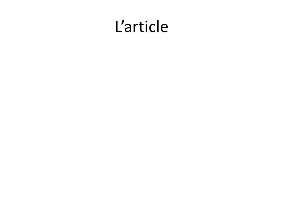 L'article