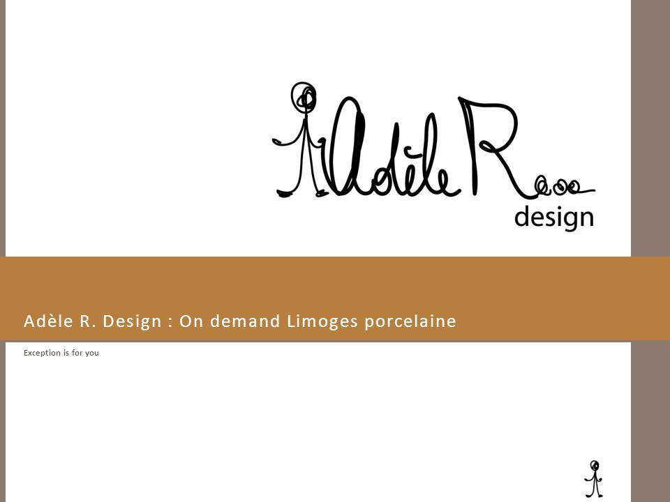 Adèle R. Design : On demand Limoges porcelaine