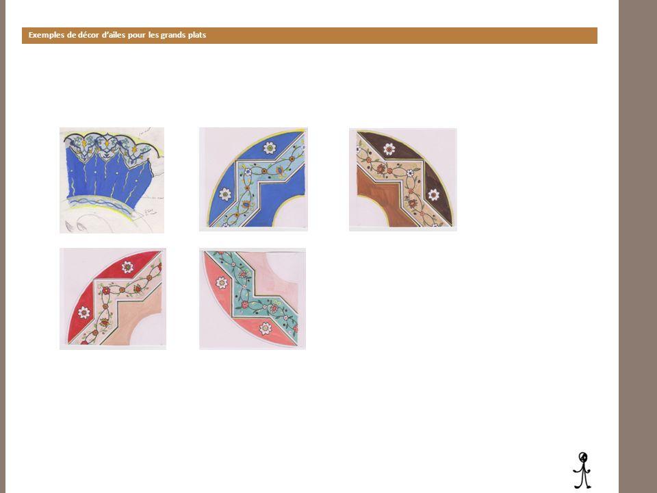 Exemples de décor d'ailes pour les grands plats