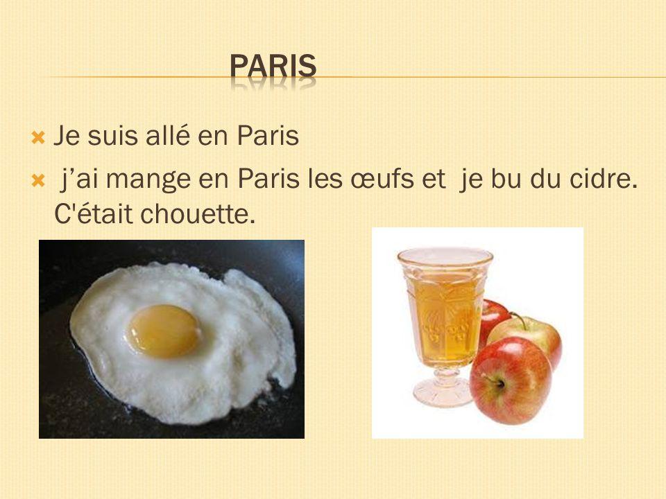 Paris Je suis allé en Paris