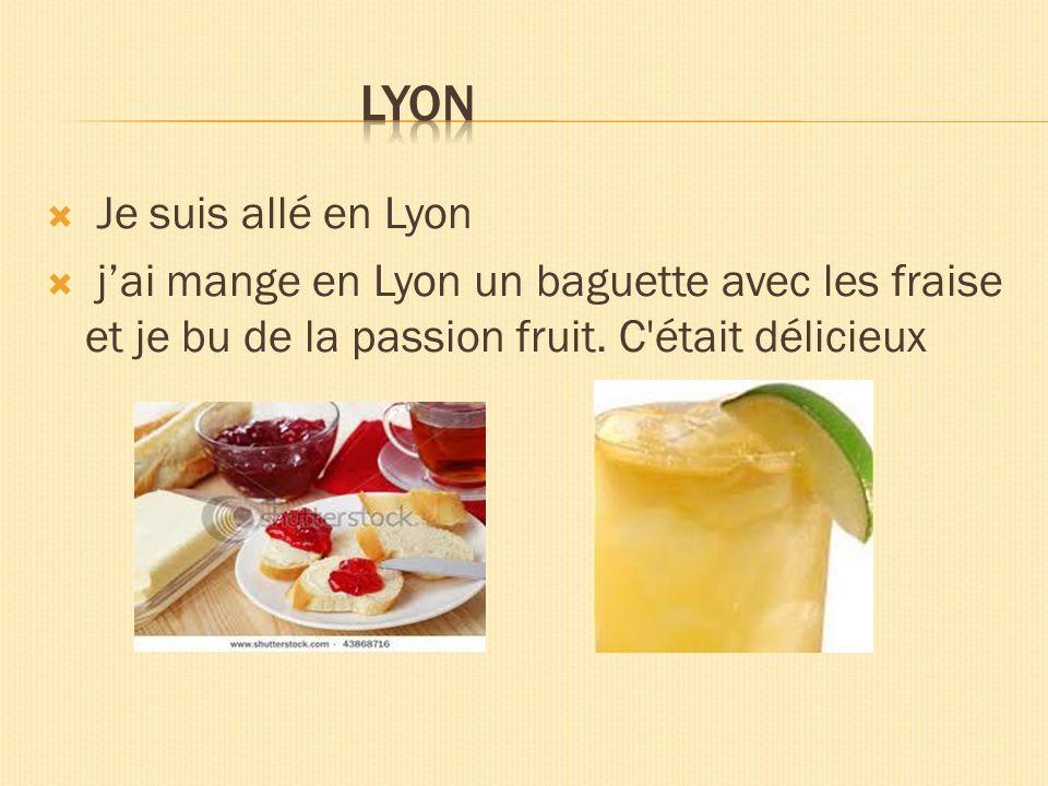 Lyon Je suis allé en Lyon