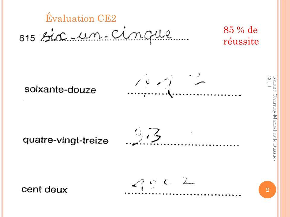 Évaluation CE2 85 % de réussite Roland Charnay-Marie-Paule Dussuc-2010