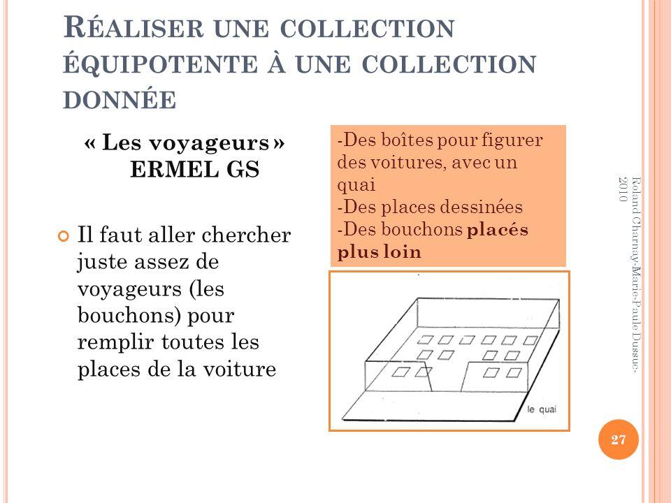 Réaliser une collection équipotente à une collection donnée