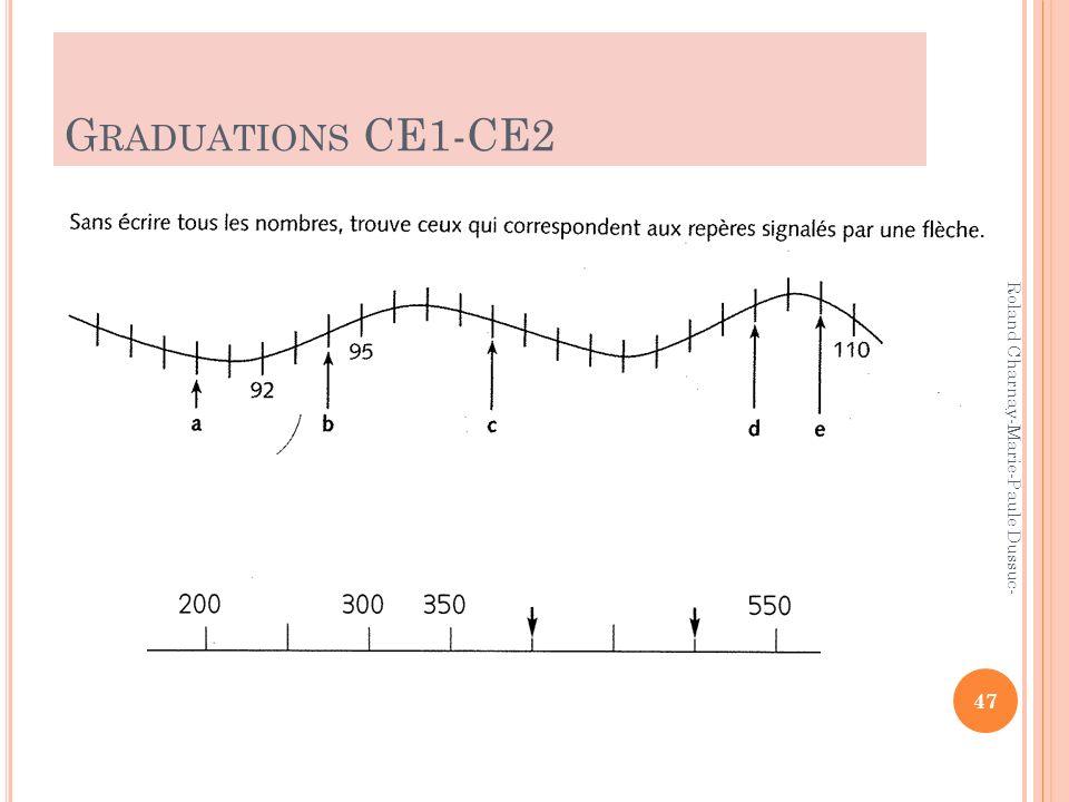 Graduations CE1-CE2 Roland Charnay-Marie-Paule Dussuc-2010