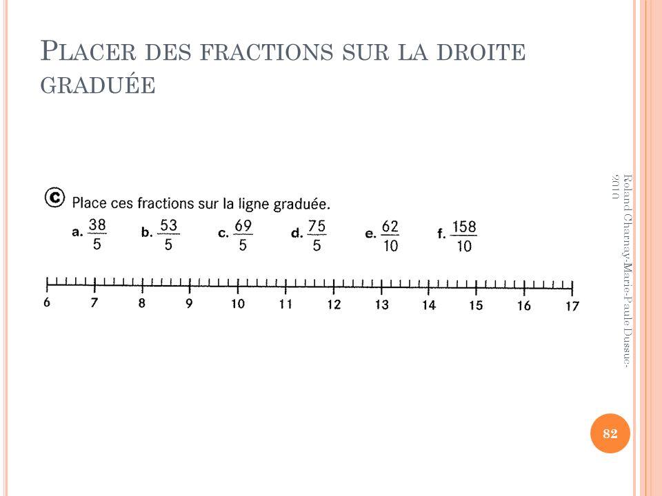 Placer des fractions sur la droite graduée