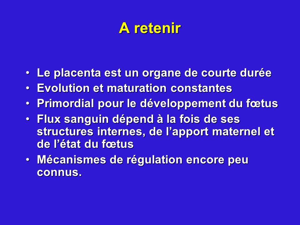 A retenir Le placenta est un organe de courte durée