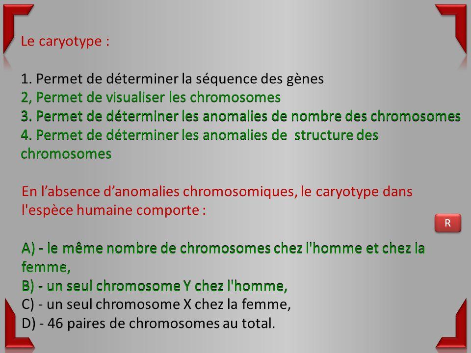 1. Permet de déterminer la séquence des gènes