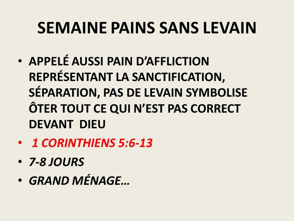SEMAINE PAINS SANS LEVAIN