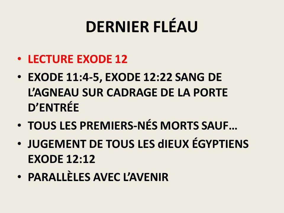 DERNIER FLÉAU LECTURE EXODE 12