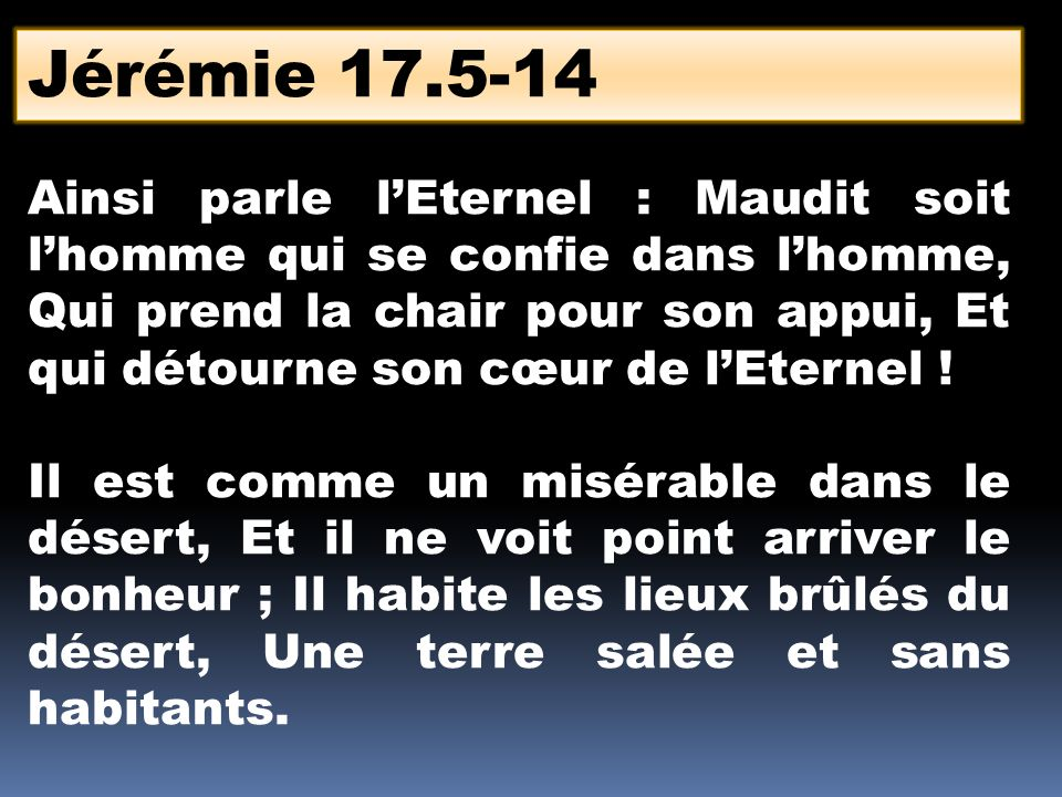Jérémie 17.5-14
