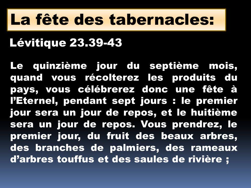 La fête des tabernacles: