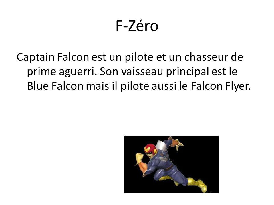 F-Zéro Captain Falcon est un pilote et un chasseur de prime aguerri.