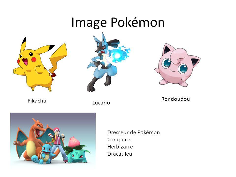 Image Pokémon Rondoudou Pikachu Lucario Dresseur de Pokémon Carapuce