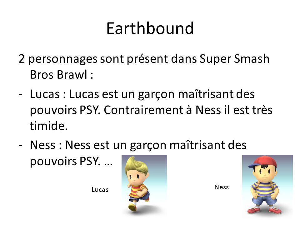 Earthbound 2 personnages sont présent dans Super Smash Bros Brawl :