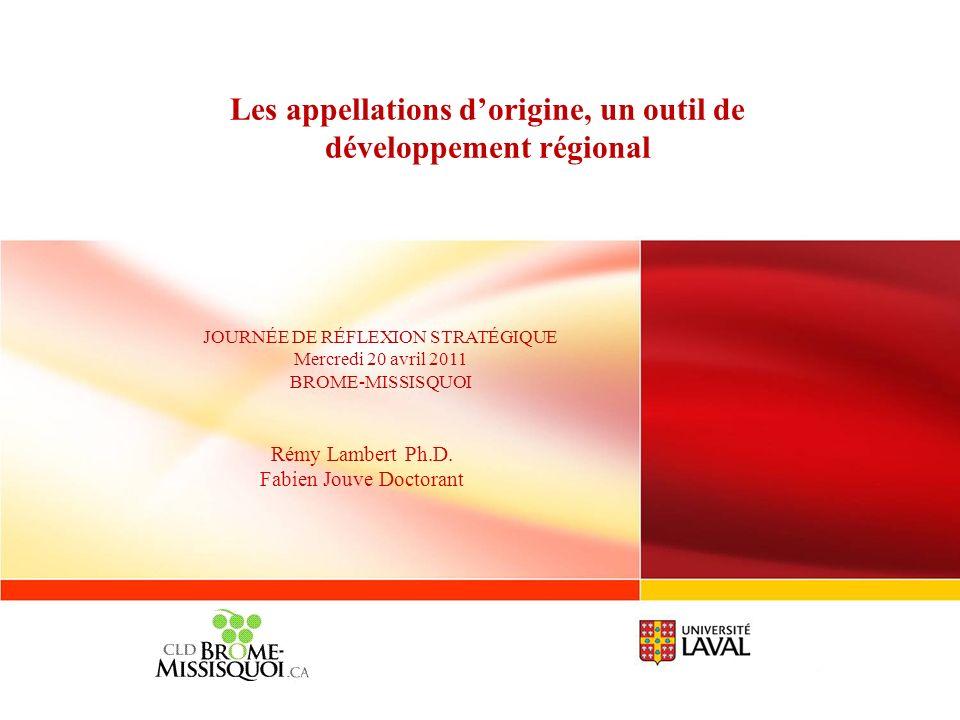 Les appellations d'origine, un outil de développement régional