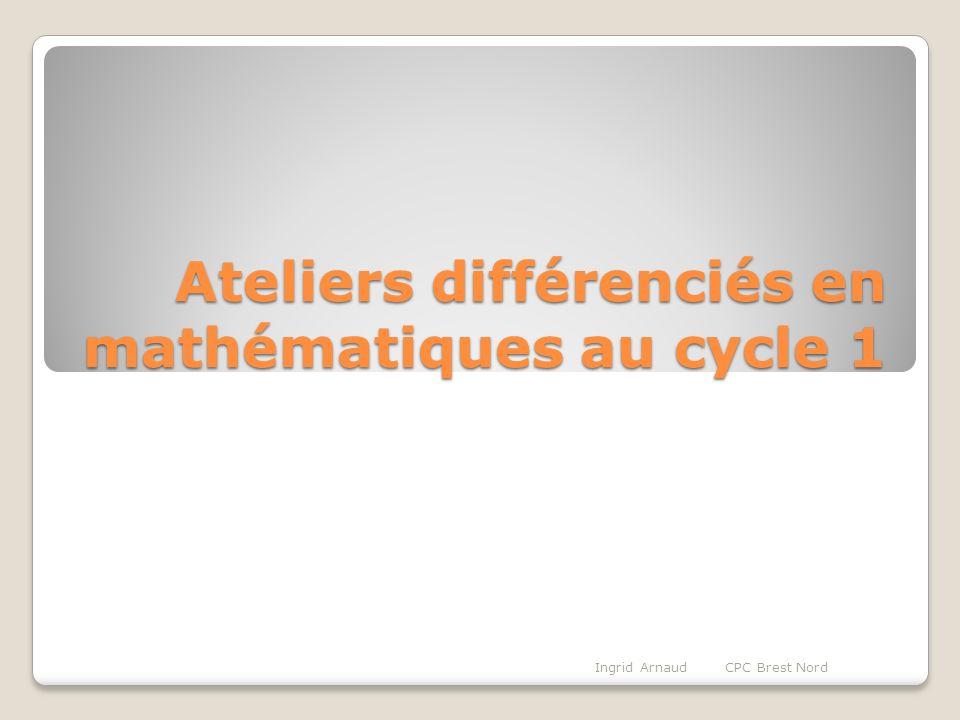 Ateliers différenciés en mathématiques au cycle 1
