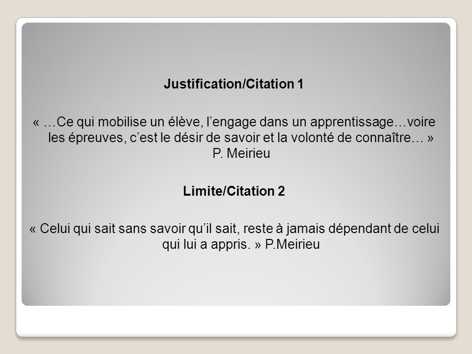 Justification/Citation 1