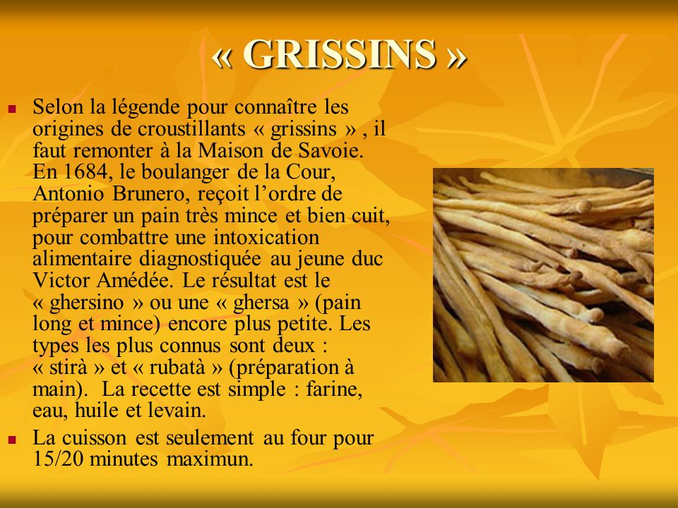 « GRISSINS »