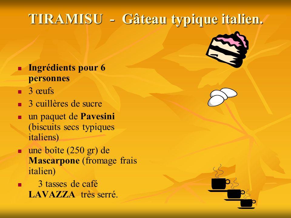 TIRAMISU - Gâteau typique italien.